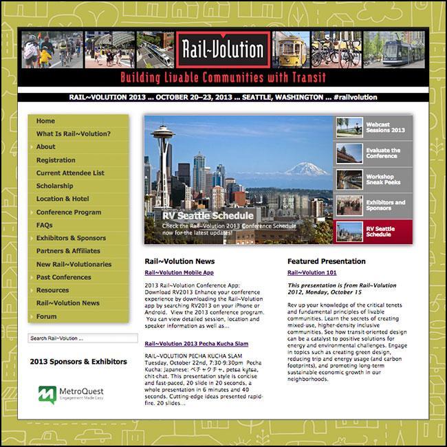 Rail~Volution website
