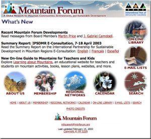 The Mountain Forum