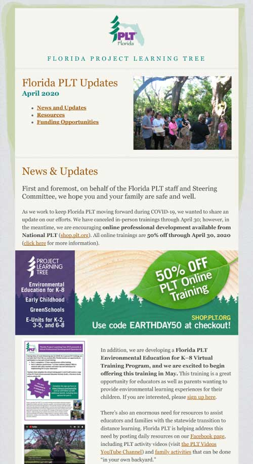 Florida Project Learning Tree E-News
