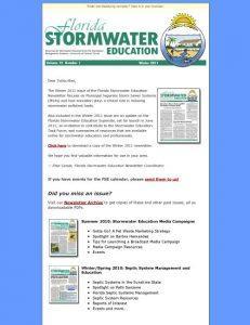 Stormwater Education Newsletter E-News